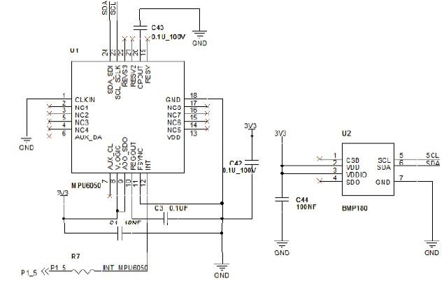 图3:可穿戴开发设备   3 运动轨迹仿真系统设计   基于已有的可穿戴开发平台,本仿真系统通过对运动轨迹产生的加速度信号进行数据采集。对采集到的信号进行预处理之后完成对加速度积分以及后期的误差补偿,最后实现对运动轨迹的1:1 的仿真。   仿真系统主要分为三个主要部分:六轴传感器、蓝牙和上位机处理。六轴传感器主要包括三轴加速度传感器和三轴陀螺仪,分别对运动过程中产生的加速度信号和角速度信号进行采集;蓝牙主要负责接收六轴传感器采集到的数据,并将数据通过蓝牙信号输出给上位计算机;上位机处理主要实现数据处理