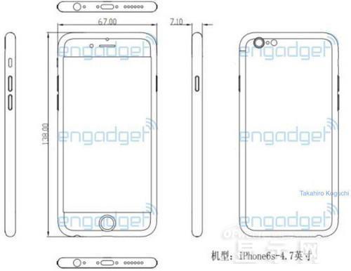 苹果iphone 6s设计图曝光:分辨率更高显示屏或至机身