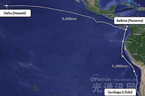 阿尔卡特朗讯建14200千米南美海底光缆系统