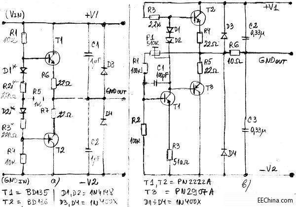 类似于作为直流放大器工作的晶体管型音频放大器电路
