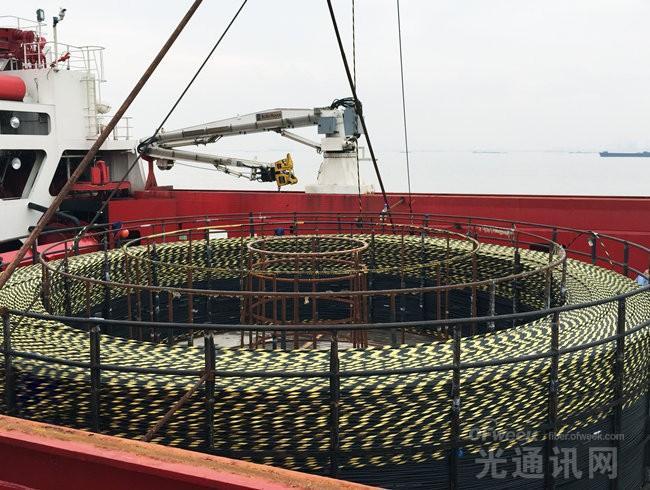 亨通海洋成功交付单根245公里海底光缆