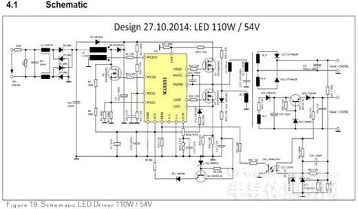 英飞凌icl5101集成pfc+llc的led商业照明方案原理图