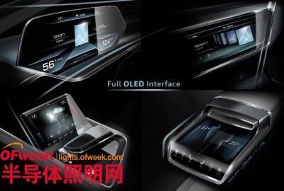 奥迪推出OLED显示屏与照明面板的e-tron quattro概念车