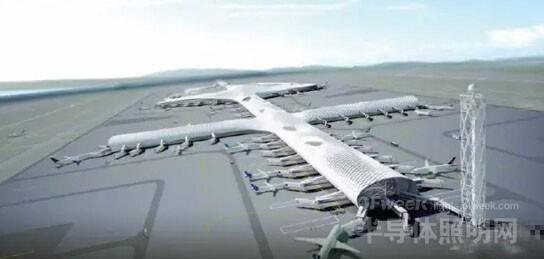 深圳机场t3 航站楼俯视图