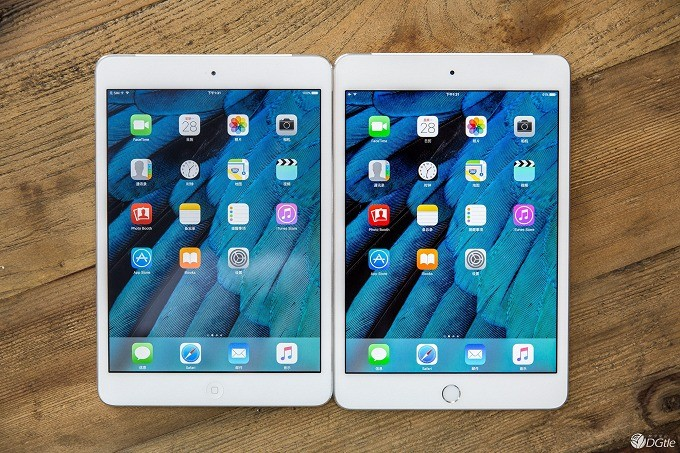 iPad mini4/mini2新旧同台竞技:是你会选谁?