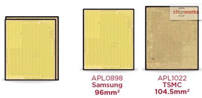 拆解评测显示苹果A9处理器由三星与台积电共同代工生产