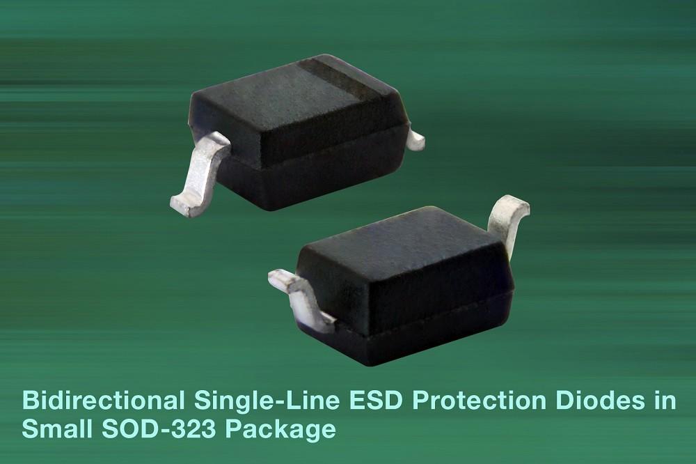 Vishay新款双向单路ESD 可保护汽车数据总线