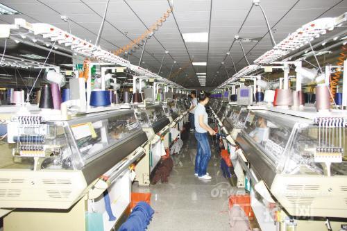 毛织产业机器换人