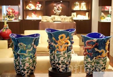法蓝瓷结合3D打印技术 呈现精美绝伦瓷器(图)