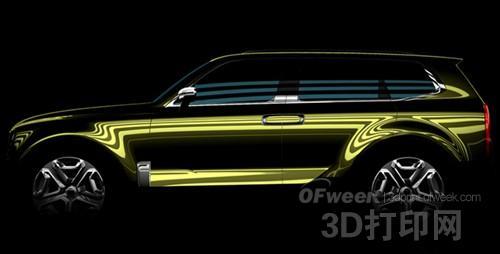 起亚Telluride概念车内饰图曝光 采用3D打印