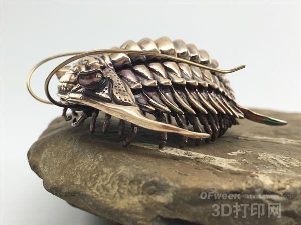 科学家用金属3D打印制造出惊艳的三叶虫模型
