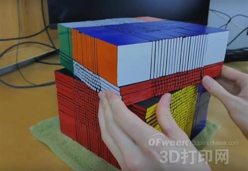 世界最大22×22 3D打印魔方问世
