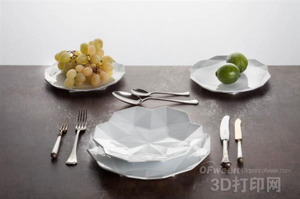 精品:捷克立体主义风格的精美3D打印餐具