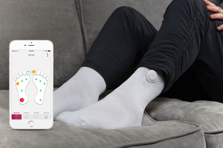 智能袜子可助糖尿病患者监控病情