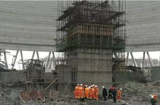 施工方河北亿能烟塔工程有限公司相关负责人称