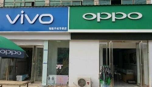 """""""一绿、一蓝""""  为啥OPPO/ vivo线下实体店总一起做邻居?"""