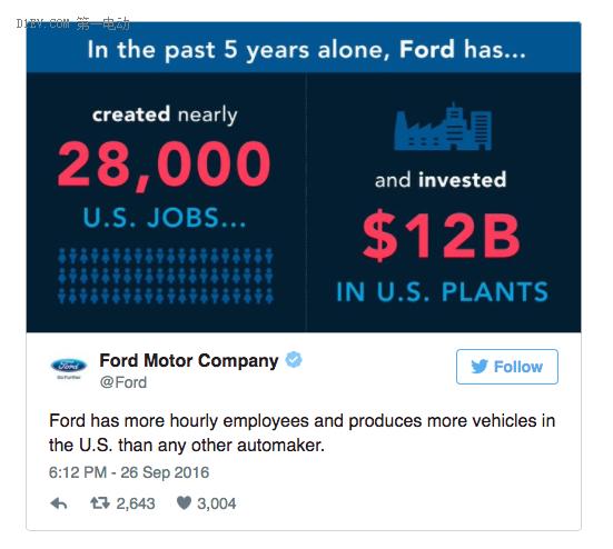 川普,特朗普,美国总统,汽车制造,福特
