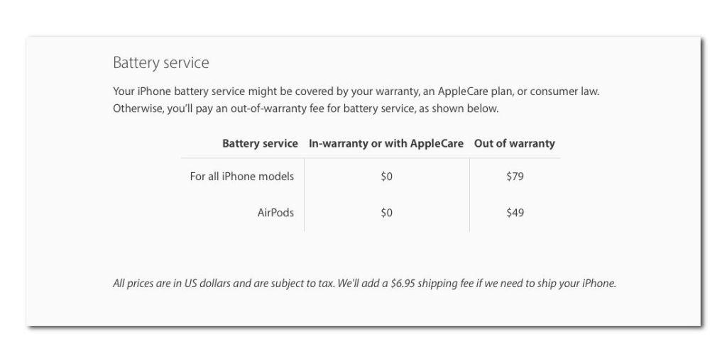 AirPods更换电池要多少钱: 过保需要49美元