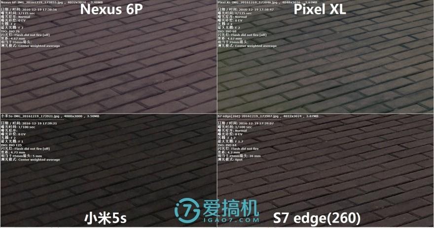 大像素对决!小米5s/三星S7/Pixel XL/Nexus 6P拍照横评