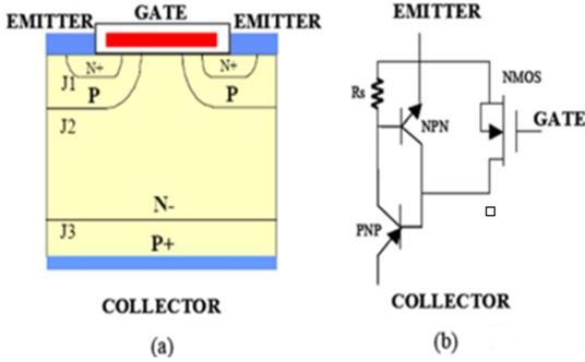 igbt结构示意图及等效电路图