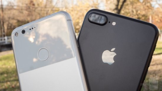 谷歌Pixel XL/苹果iPhone7 Plus对比评测:年度旗舰的终极厮杀 谁更胜一筹
