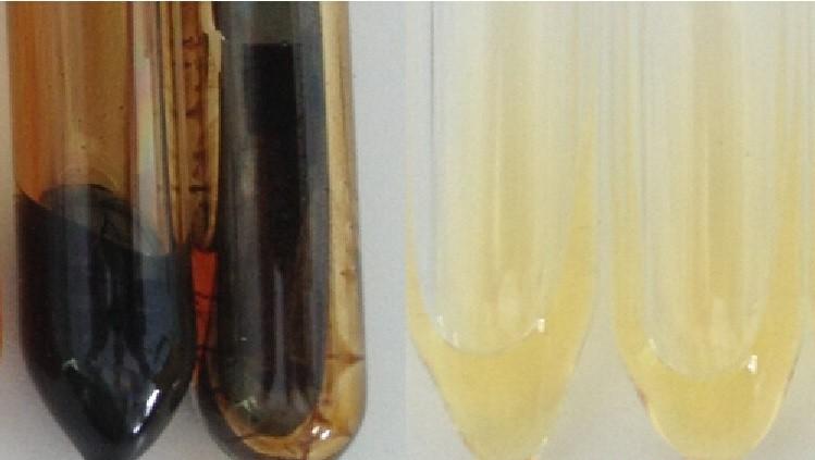 两种导热油的测试结果对比