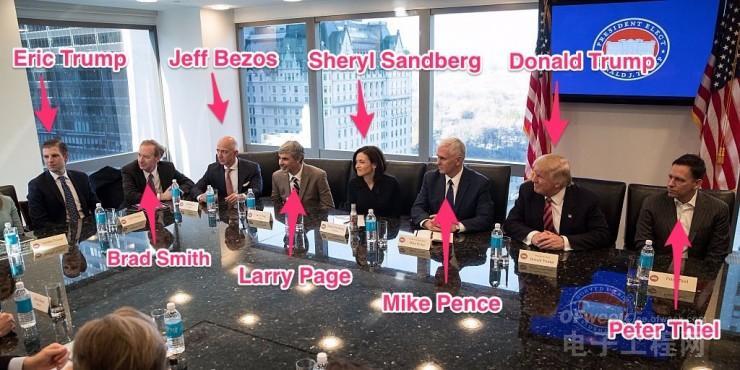 特朗普的科技峰会都约了谁?谁的座位离他最近?