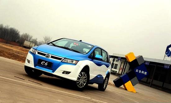 低碳交通 比亚迪出电动出租车e6试驾活动