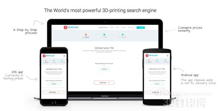 3Dprintler发布3D打印服务在线搜索引擎