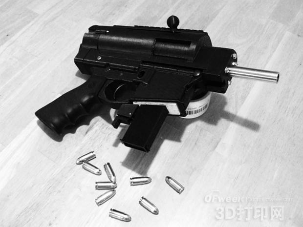 美再掀3D打印枪热潮 半自动步枪震撼出击