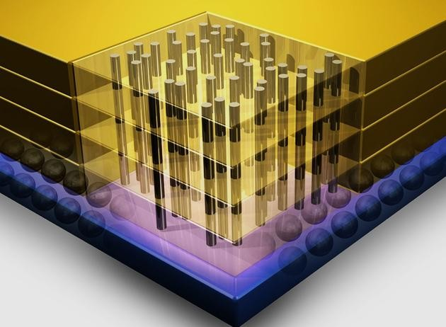 ibm的3d存储芯片微观结构