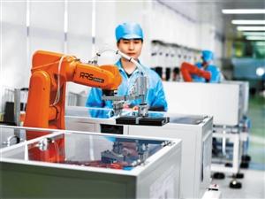 图为雷柏科技机器人在工作。