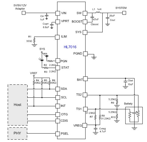 希荻微推出适用于大容量锂电池的快充芯片HL7016