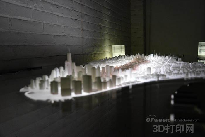 艺术家用3D打印制作惊艳纽约曼哈顿3D地图