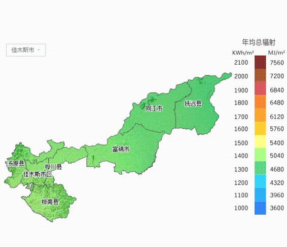 黑龙江省所属各市太阳能资源分布地图出炉