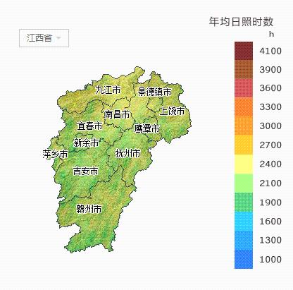 【收藏】江西省所属各市太阳能资源分布地图出炉