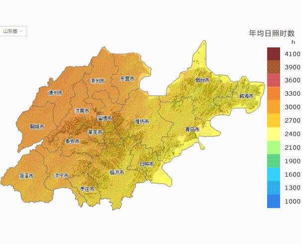 山东日照地图_【必备】山东省所属各市太阳能资源分布地图集锦