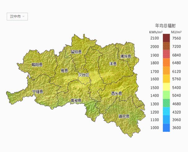 【图集】陕西省各市太阳能资源分布地图汇总