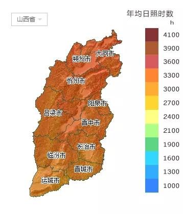 【图集】山西省各市太阳能资源分布地图汇总