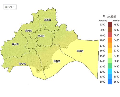 太阳能资源分布地图集锦