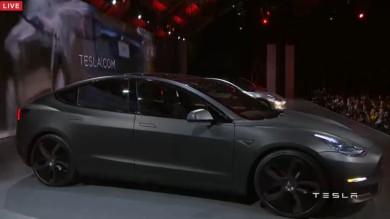 特斯拉Model 3     浅蓝
