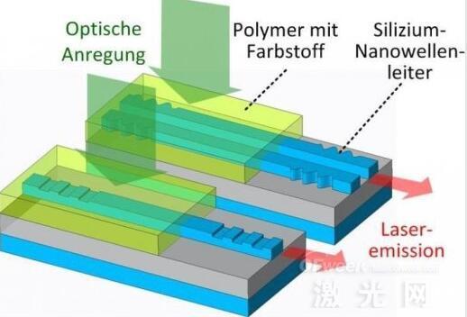 硅光子芯片上的有机激光器