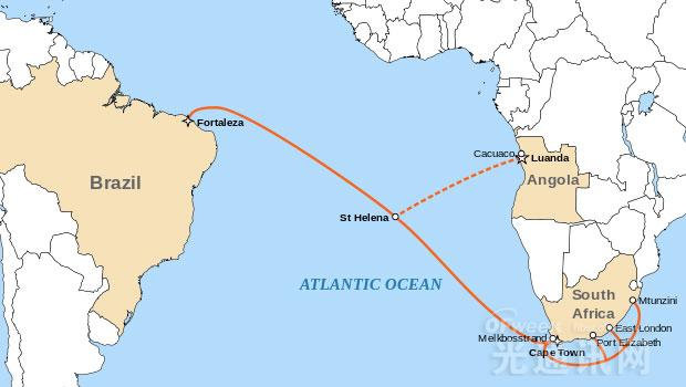 SACS预计在2018年中期投入使用。   该项目成本预计达到1.6亿美元。   SACS将连接安哥拉罗安达以及巴西福塔雷萨市,为首条直接连接非洲与拉丁美洲的海底数据电缆,跨越南大西洋6200多公里,实现高速大容量国际数据传输。   从福塔莱萨,SACS可以连接到另一根延伸到佛罗里达州迈阿密市的电缆系统,使安哥拉和非洲直接与美国连接。   SACS将采用最先进的光学技术,提供最先进的海底通信系统,以及基于软件定义网络(SDN)的技术服务带宽密集型应用的控制管道。   该海底电缆初始容量为40Tpbs