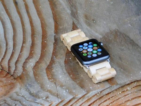纯手工木制作Apple Watch表带