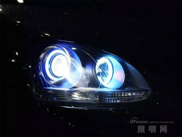 激光大灯对比卤素灯/氙气灯/LED大灯