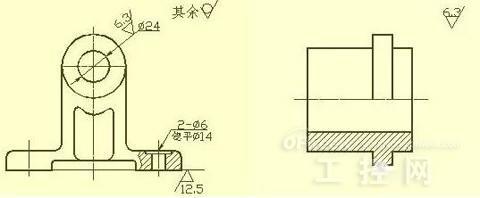 2)) 表面粗糙度代号中数字及符号的方向必须按规定标注.