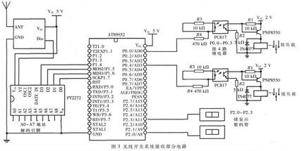 本设计利用单片机at89s52 和芯片组pt2262/2272实现了用于照明控制