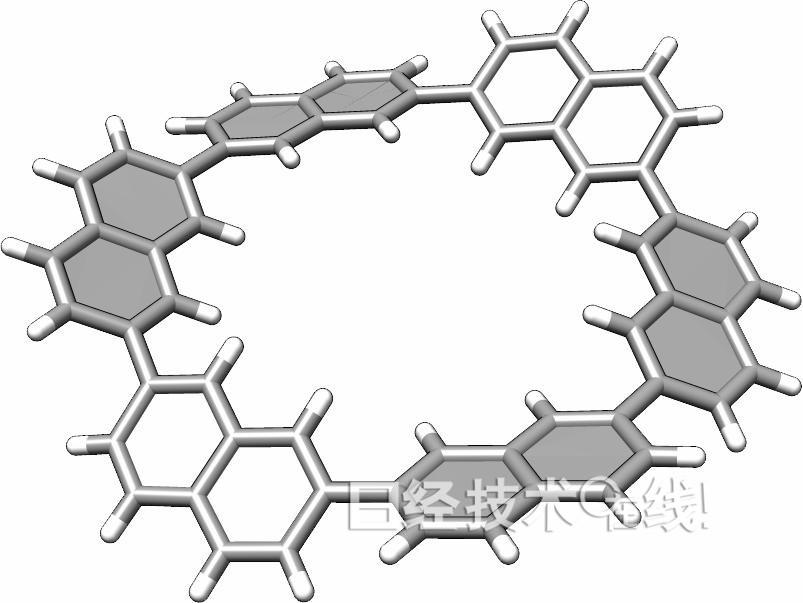 """""""穿孔石墨烯分子""""的分子结构"""