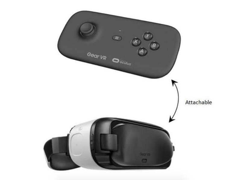 三星Gear VR手柄谍照曝光 玩游戏技能Max