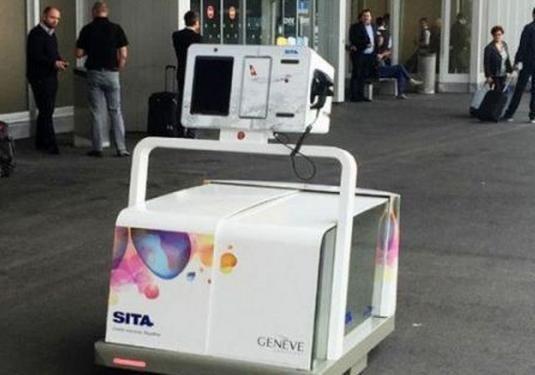 机场的托运机器人